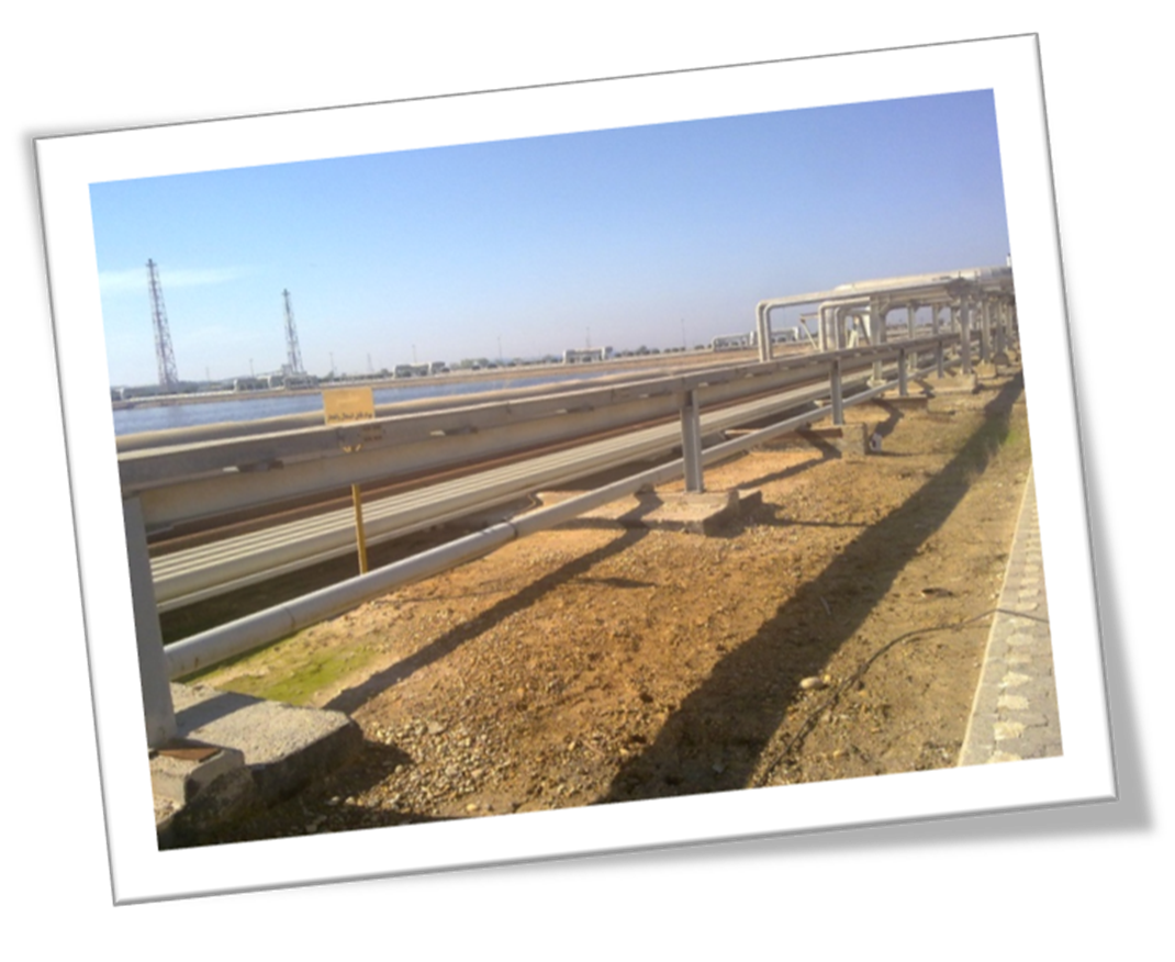 Line of oily wastewater pipeline project - Fajr Petrochemical Complex